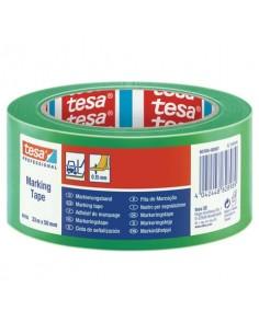 Nastro per segnalazioni in PVC tesa Tesaflex® 60760 rivestito gomma resina 50mmX33m verde - 60760-00097-15