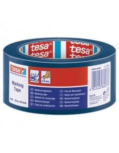 Nastro per segnalazioni in PVC tesa Tesaflex® 60760 rivestito gomma resina 50mmX33m blu - 60760-00098-15