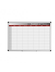 Planning Bi-office settimanale magnetico bianco 90x60 cm. bianco GA03266170