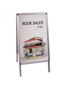Cavalletto bifacciale per poster Bi-Office con cornice a scatto 47x80 cm DKT60303032