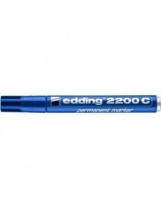 Marcatore permanente edding 2200 C punta scalpello 1-5 mm blu 4-2200C003