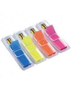 Segnapagina removibili Post-it® Index Mini con dispenser fluo assortiti 4 confezioni da 35 - 683-HF4EU