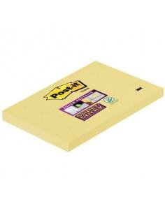 Foglietti riposizionabili Post-it® Super Sticky Notes 76x127 mm 90 ff Giallo Canary™ - 655-12SSCY-EU