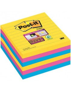 Foglietti Post-it® Super Sticky Notes Rio de Janeiro a righe assortiti conf. 6 blocchetti da 90 ff - 675-SS6RIO-EU