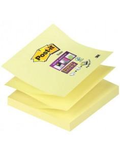 Foglietti riposiz. Post-it® Ricarica Z-Notes Super Sticky assortiti Giallo Canary™ 6 bloc. da 90 ff - R330-12SS-CY