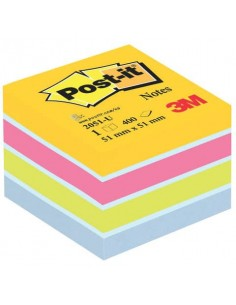 Foglietti riposizionabili colorati Post-it® Notes Minicubo Ultra 51x51 mm assortiti 400 ff - 2051-U
