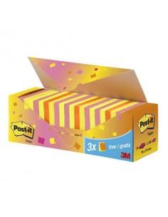 Foglietti colorati Post-it® Notes neon assortiti neon conf. 21 blocchetti + 3 gratis da 100 ff - CP 654-NP24