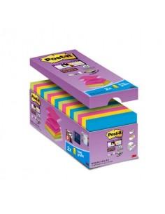 Foglietti Post-it® Super Sticky Z-notes assortiti conf. 14 blocchetti + 2 gratis da 100 ff - R330-SS-VP16-EU