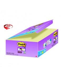 Foglietti Post-it® Super Sticky Giallo Canary™ conf. 21 blocchetti + 3 gratis da 90 ff - 622SSCY-VP24