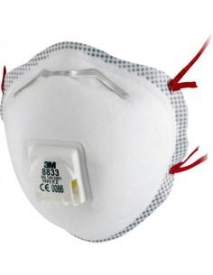 Respiratore monouso a conchiglia 3M Comfort Moulded FFP3 con valvola Conf. 10 pezzi - 8833