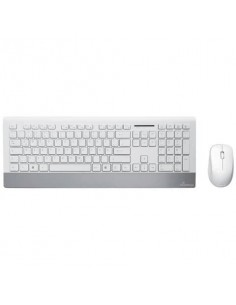 Set tastiera e mouse wireless Media Range serie highline QWERTZ, bianco/argento - MROS106
