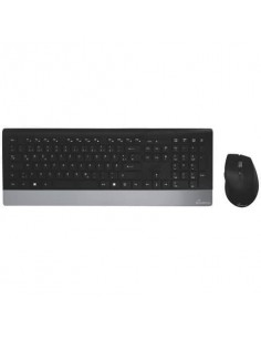 Set tastiera e mouse wireless Media Range serie highline QWERTZ, nero/argento - MROS105
