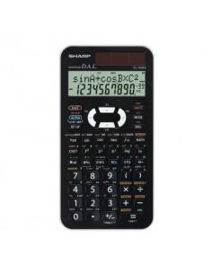 Calcolatrice scientifica a doppia alimentazione SHARP con display a 2 righe bianco - EL 506 XBWH
