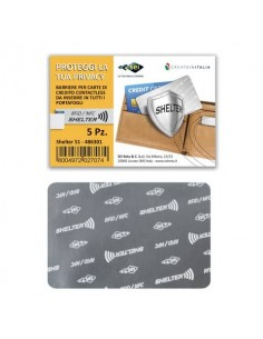 Foglietti porta tessere Sei Rota Shelter-C 1A alluminio Conf. 5 pezzi - 486301