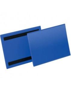 Tasche per identificazione Durable con bande magnetiche blu f.to esterno mm. 223x163- inserto A5 orizz. cf 50- 174307