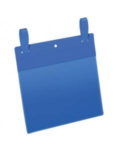 Tasche per identificazione Durable con fascette di aggancio blu f.to esterno mm 223x387- inserto A5 orizz. Cf 50- 174907
