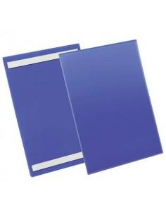 Tasche per identificazione Durable con bande adesive blu f.to esterno mm. 233x 313x1,7- inserto A4 vert. cf. 50- 179707