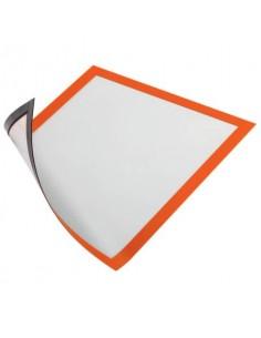Cornici con pannello magnetico DURABLE DURAFRAME® MAGNETIC A4 PVC rigido arancio 236x323 mm conf. 5 - 486909