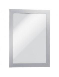 Cornici con pannello magnetico Durable DURAFRAME® MAGNETIC A5 PVC rigido argento met. 174x236mm conf. 5 - 494723
