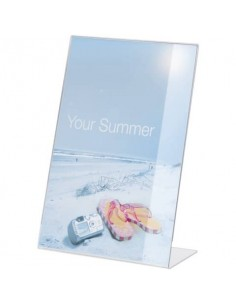 Espositore da tavolo DURABLE portastampati acrilico A4 trasparente - 859619