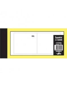 Scontrini numerati Semper a due sezioni - blocco di 100 copie numerate 5,8x13 cm bianco - SE160000010