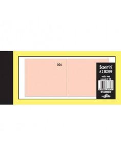 Scontrini numerati Semper a due sezioni - blocco di 100 copie numerate 5,8x13 cm rosso - SE160000020