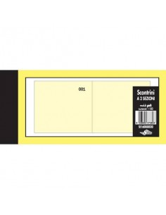 Scontrini numerati Semper a due sezioni - blocco di 100 copie numerate 5,8x13 cm giallo - SE160000030