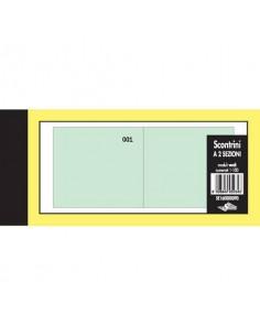 Scontrini numerati Semper a due sezioni - blocco di 100 copie numerate 5,8x13 cm verde - SE160000090