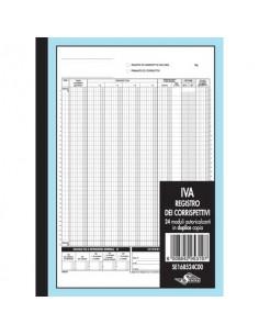 Registro Corrispettivi per dettaglianti Semper - blocco di 24/24 copie 29,7x21,5 cm - SE168524C00