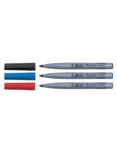 Marcatore permanente BIC Marking Pocket 1445 punta conica 1 mm blu 8209012
