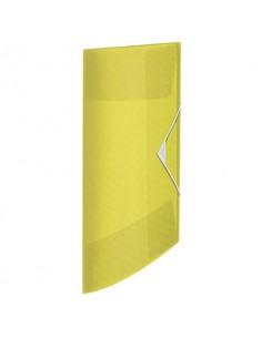 Cartella a 3 lembi Esselte Colour'Ice PP goffrato A4 giallo 626220