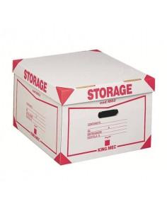 Contenitore 4 scatole King Mec Storage 41x27x43 cm bianco 160300