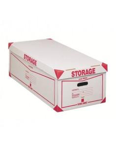 Contenitore 8 scatole archivio King Mec Storage 41x27x78 cm bianco 160400