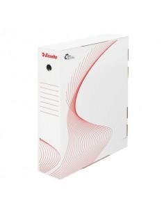 Scatola archivio Esselte BOXY LG per tabulati bianco/rosso 39,5x31x8 cm 128500