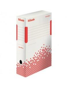 Scatola archivio Esselte SPEEDBOX dorso 10 cm bianco/rosso 10x25x35 cm 623908