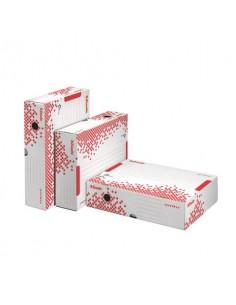 Scatola archivio Esselte SPEEDBOX dorso 80 mm bianco/rosso 8x25x35 cm 623910