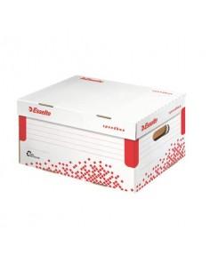 Scatola archivio Esselte SPEEDBOX con coperchio integrato bianco/rosso 25,2x19,3x35,5 cm - 623911