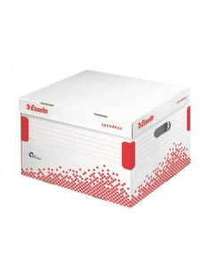 Scatola archivio Esselte SPEEDBOX con coperchio integrato bianco/rosso 36,4x26,3x43,3 cm - 623913