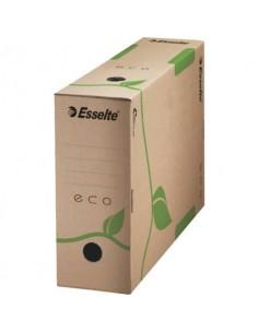 Scatola archivio Esselte ECOBOX dorso 10 cm avana/verde 10x23,3x32,7 cm 623917