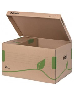 Scatola archivio Esselte ECOBOX container per Boxy 80/100 avana/verde 34,5x24,2x43,9 cm - 623918