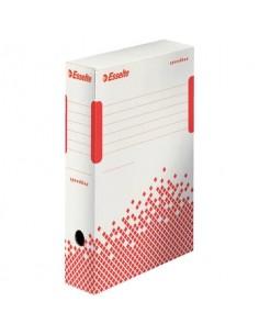 Scatole archivio Esselte SPEEDBOX dorso 80 mm bianco/rosso 8x25x35 cm conf.25 - 623985