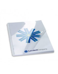 Copertine per rilegatura GBC Hiclear in pvc A4 200 my trasparente conf da 100 copertine - CE012080E