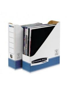 Scatola archivio FELLOWES Bankers Box® System 8x31,6x26,3 cm blu/bianco portariviste A4 - 0026301