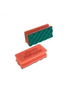 Spugna abrasiva Vileda Professional PurActive in poliuretano rosso conf. da 10 - 123112