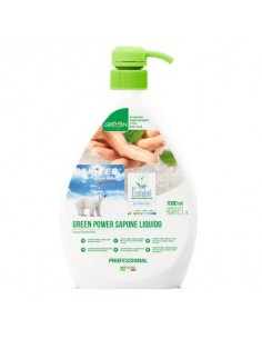 Sapone liquido mani, viso e vorpo SANITEC Green Power 1000 ml 4015
