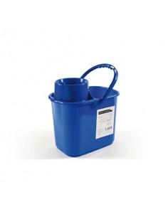 Secchio Perfetto factory Polar con strizzatore - 15 lt blu 26545