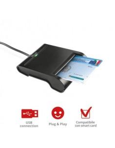 Smart Card Reader USB 2.0 per PC TRUST con cavo da 1,1 m nero 23084