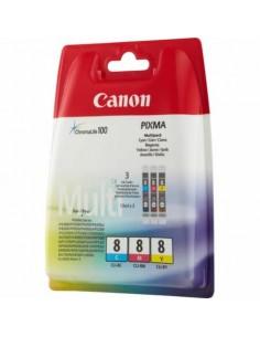 serbatoi inchiostro blister CLI-8 Canon ciano+magenta+giallo Conf. 3 - 0621B029