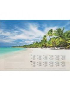 Blocco calendario DURABLE 570x410 mm 25 ff stampa a fantasia spiaggia tropicale 732115