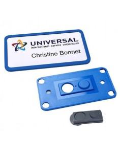 Portabadge Avery Office® con calamita smag® extra forte 81x43 mm blu Conf. 10 pezzi + 3 inserti - 4839B-L